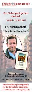Das Siebengebirge liest 2017 Flyer 1